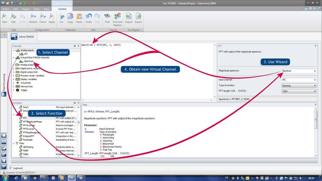 imc Inline FAMOS - real-time analysis - imc Test