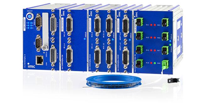 Fiber-optic CAN measurement module for temperature measurement